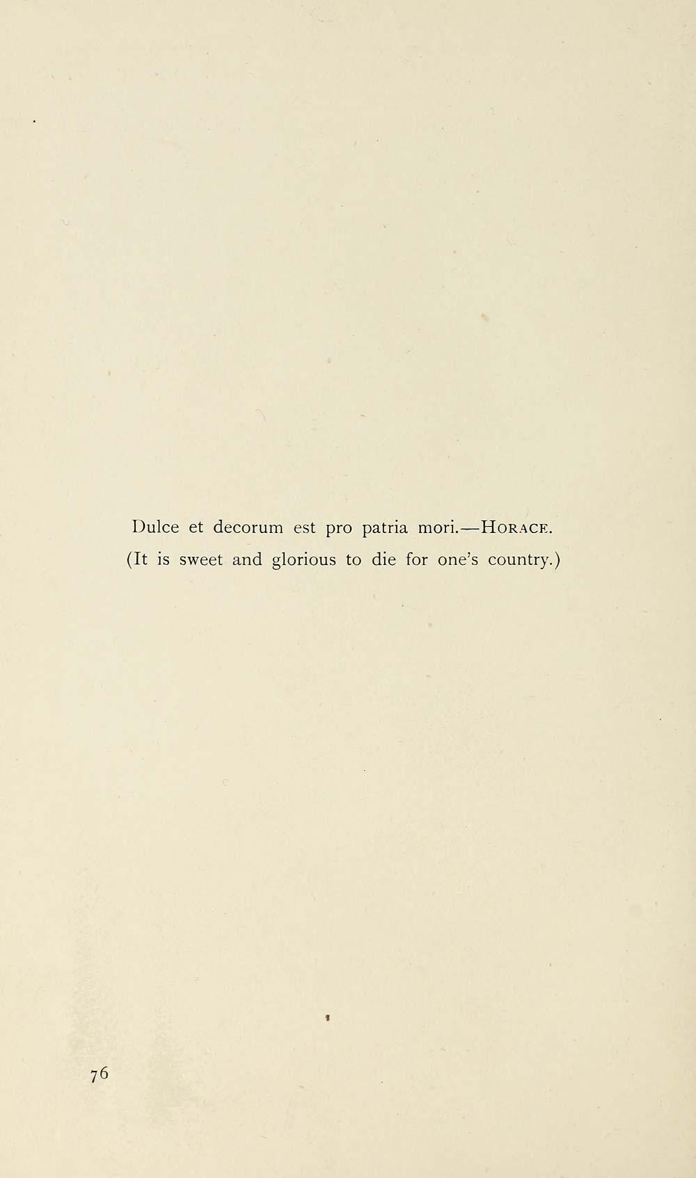 dulce et decorum est translation line by line