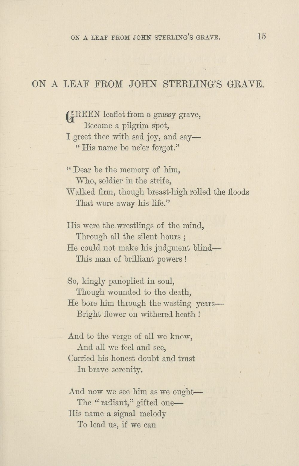 19) - Poetry > Poems and memorial verses, or, Selections
