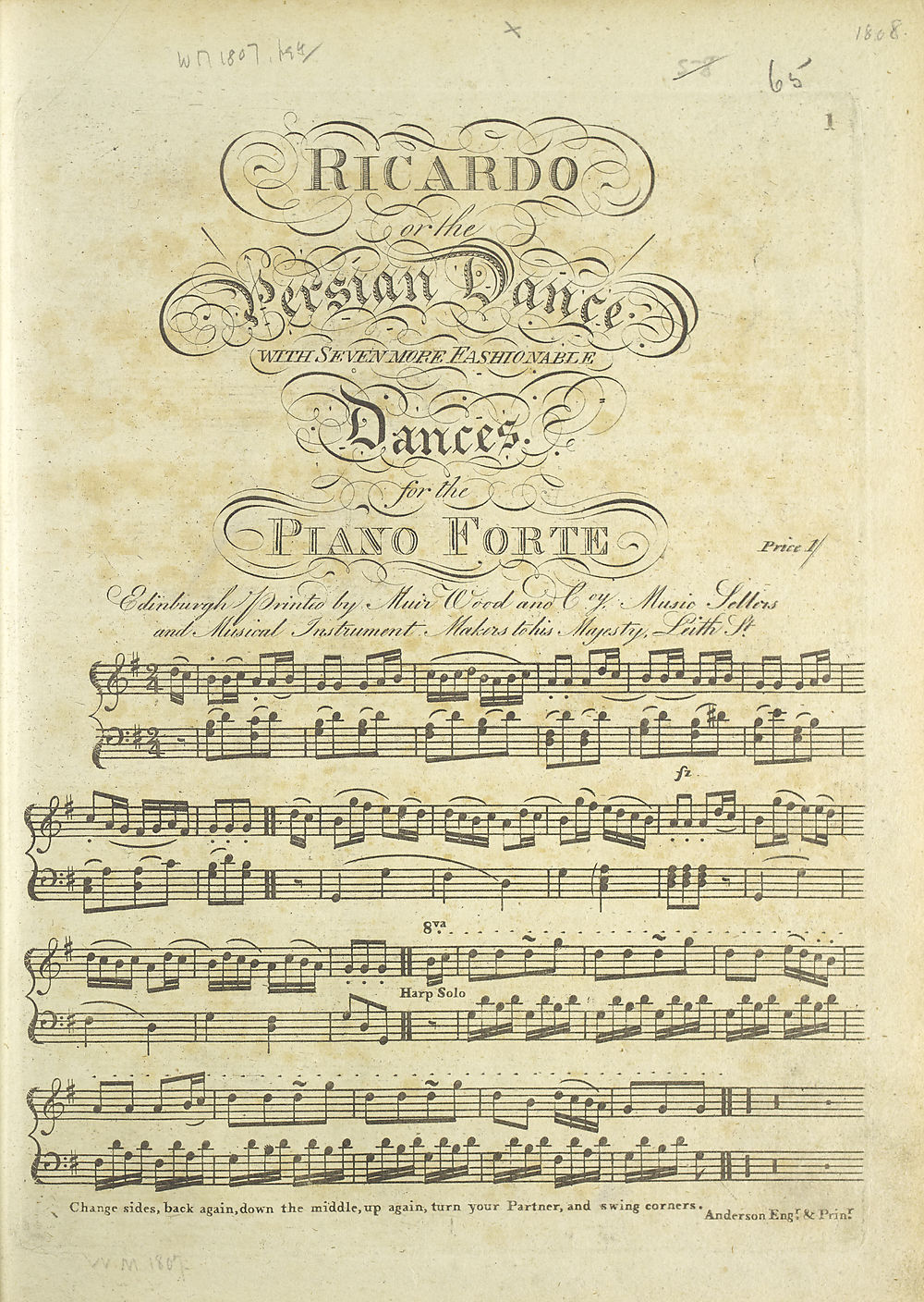 11) Title page - Glen Collection of printed music > Printed