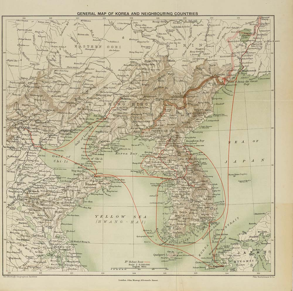 2 Map end of Volume 2  General map of Korea and neighbouring