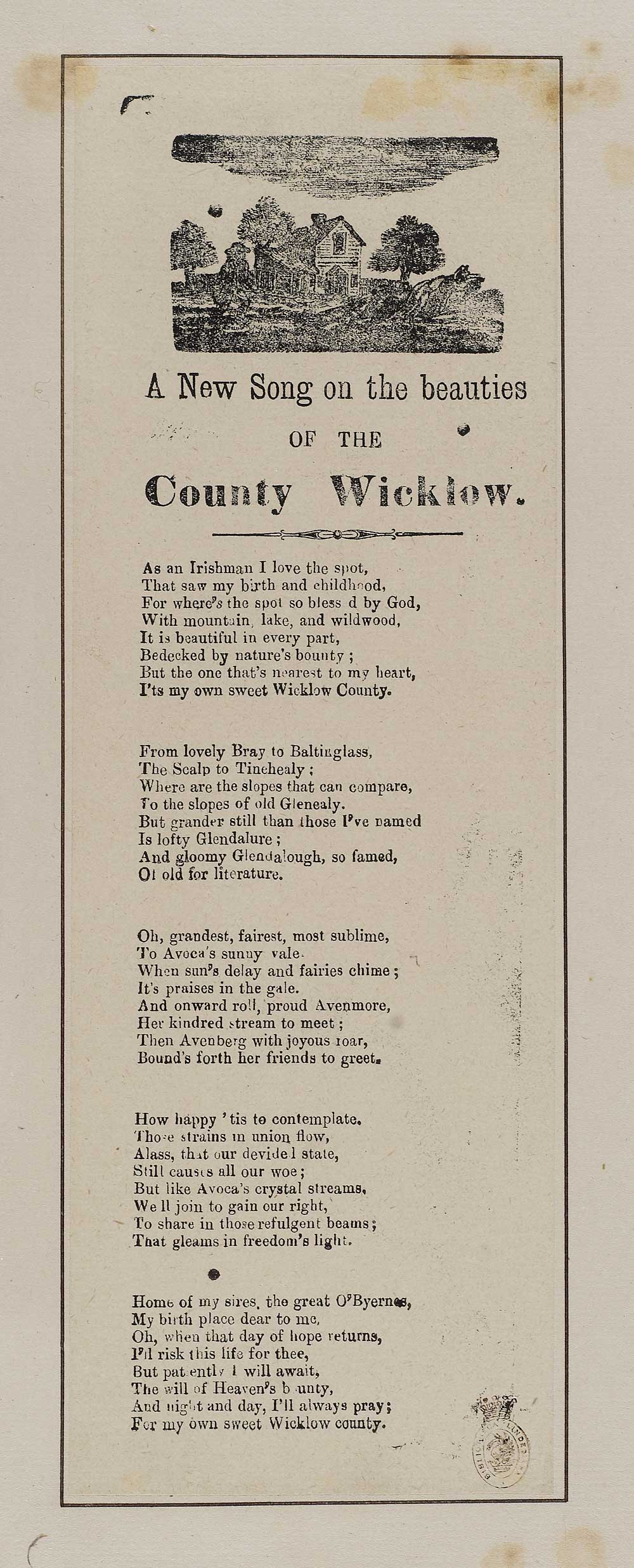 New song on the beauties of the County Wicklow - Ireland