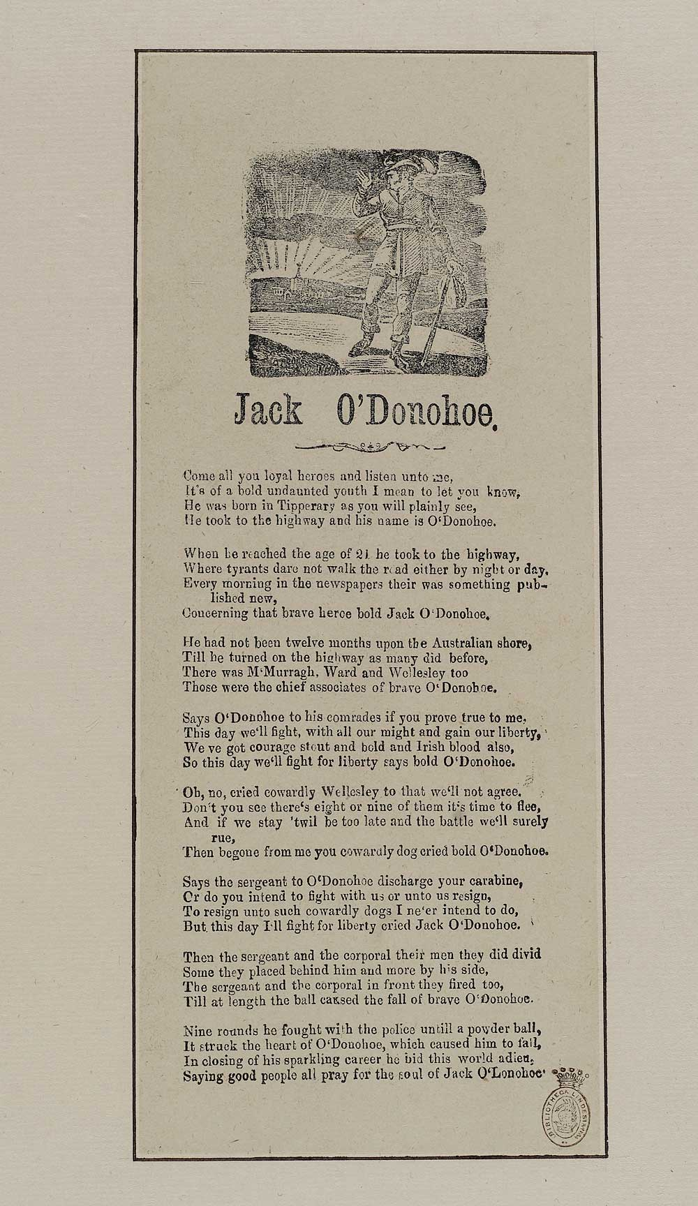 Jack O'Donohoe - Ireland - English ballads - National