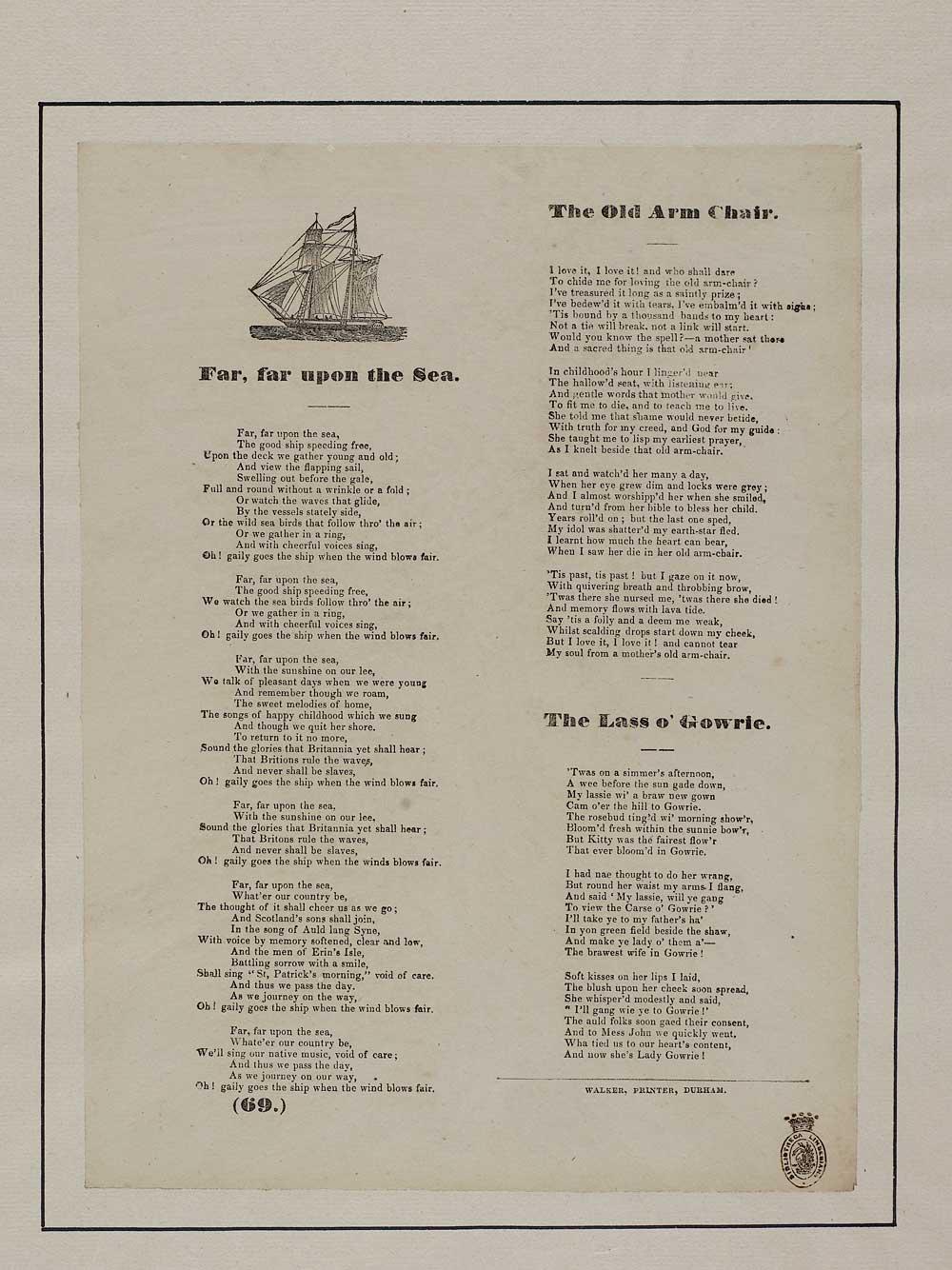 Far, far upon the sea - Scotland - English ballads