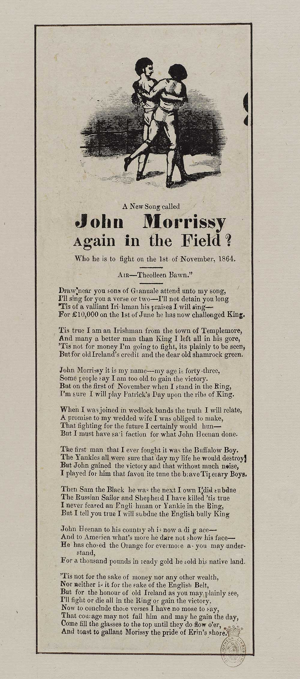 New song called John Morrissy again in the field - Sports