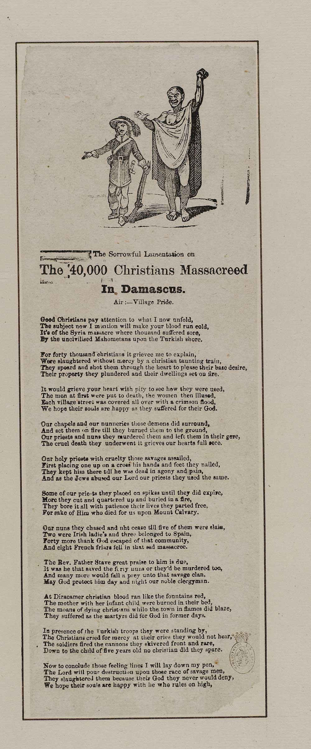 Sorrowful Lamentation On The 40 000 Christians Massacreed