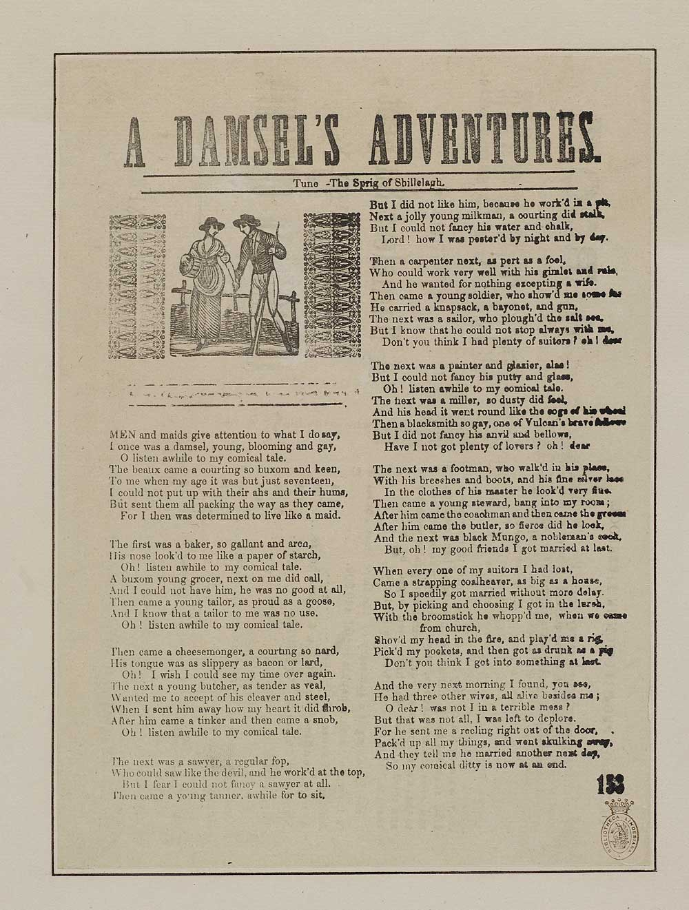 Damsel's adventures - Courtship & marriage - English ballads