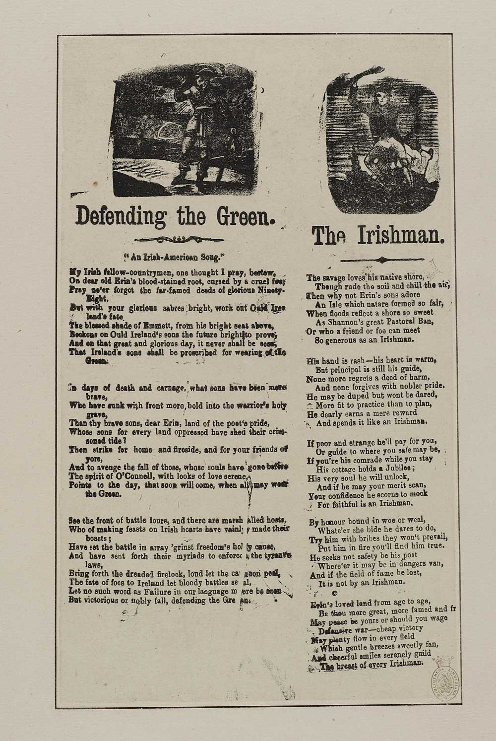 Defending the green - Ireland - English ballads - National