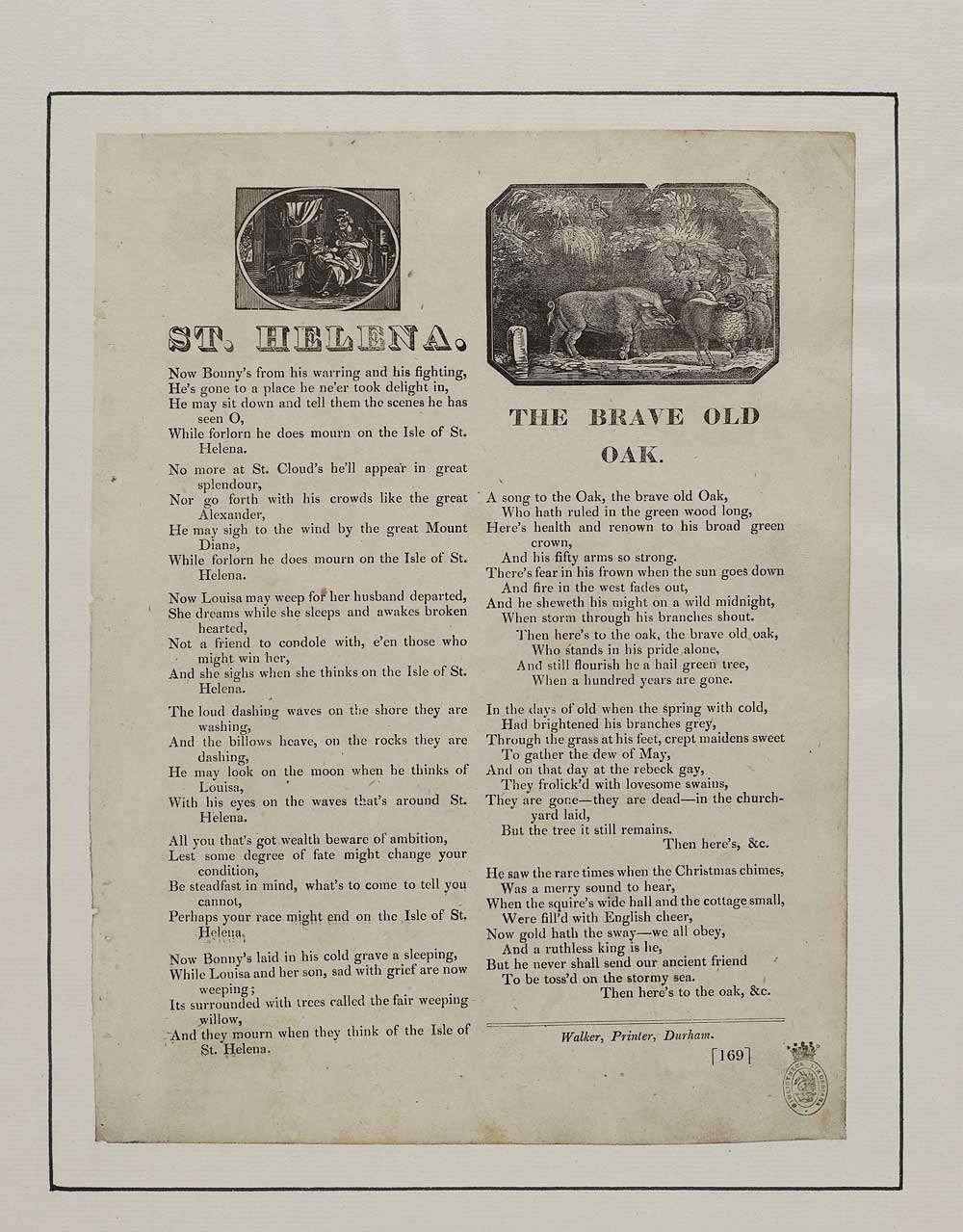 St. Helena - broadside ballad from the National Library of Scotland