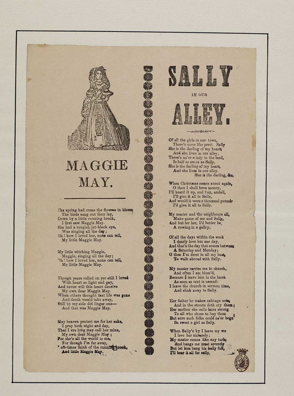 Maggie May - Courtship & marriage - English ballads
