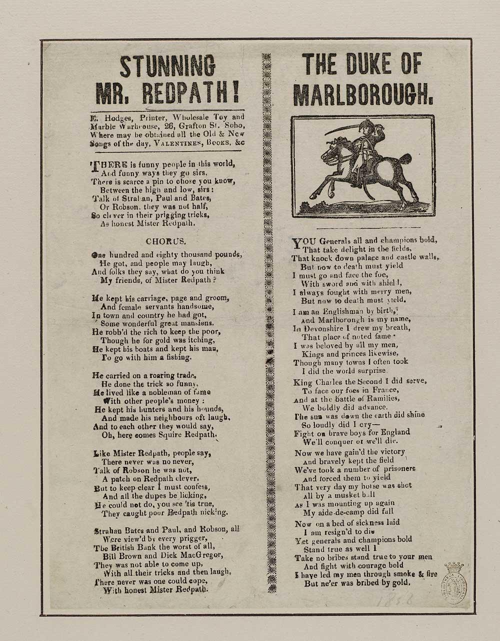 Stunning Mr Redpath - Crime & punishment - English ballads