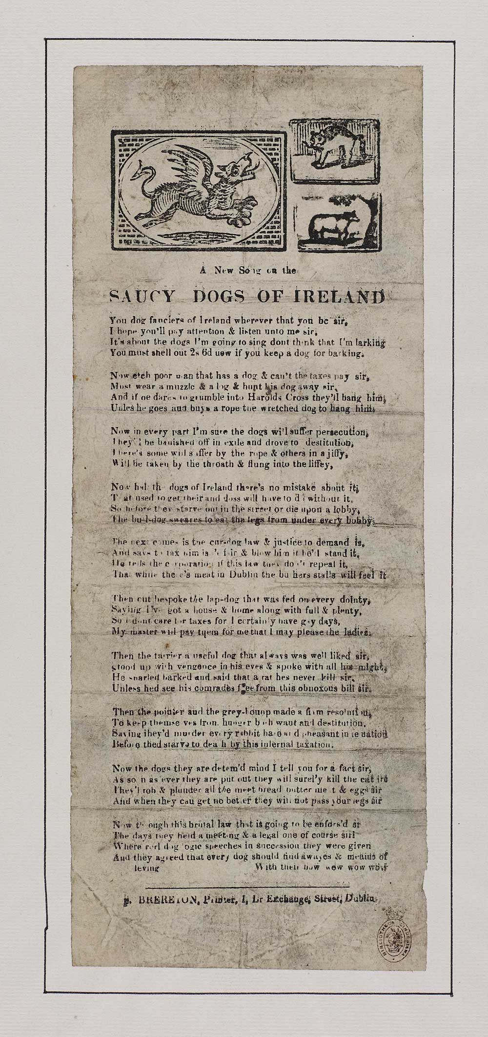 New song on the saucy dogs of Ireland - Ireland - English