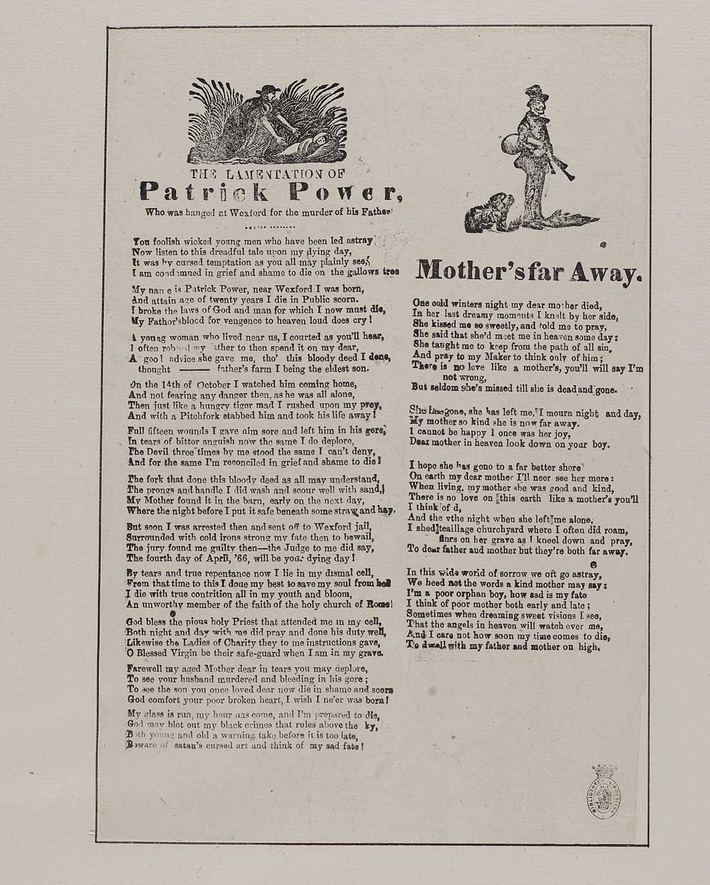 Lamentation of Patrick Power - Crime & punishment - English ballads