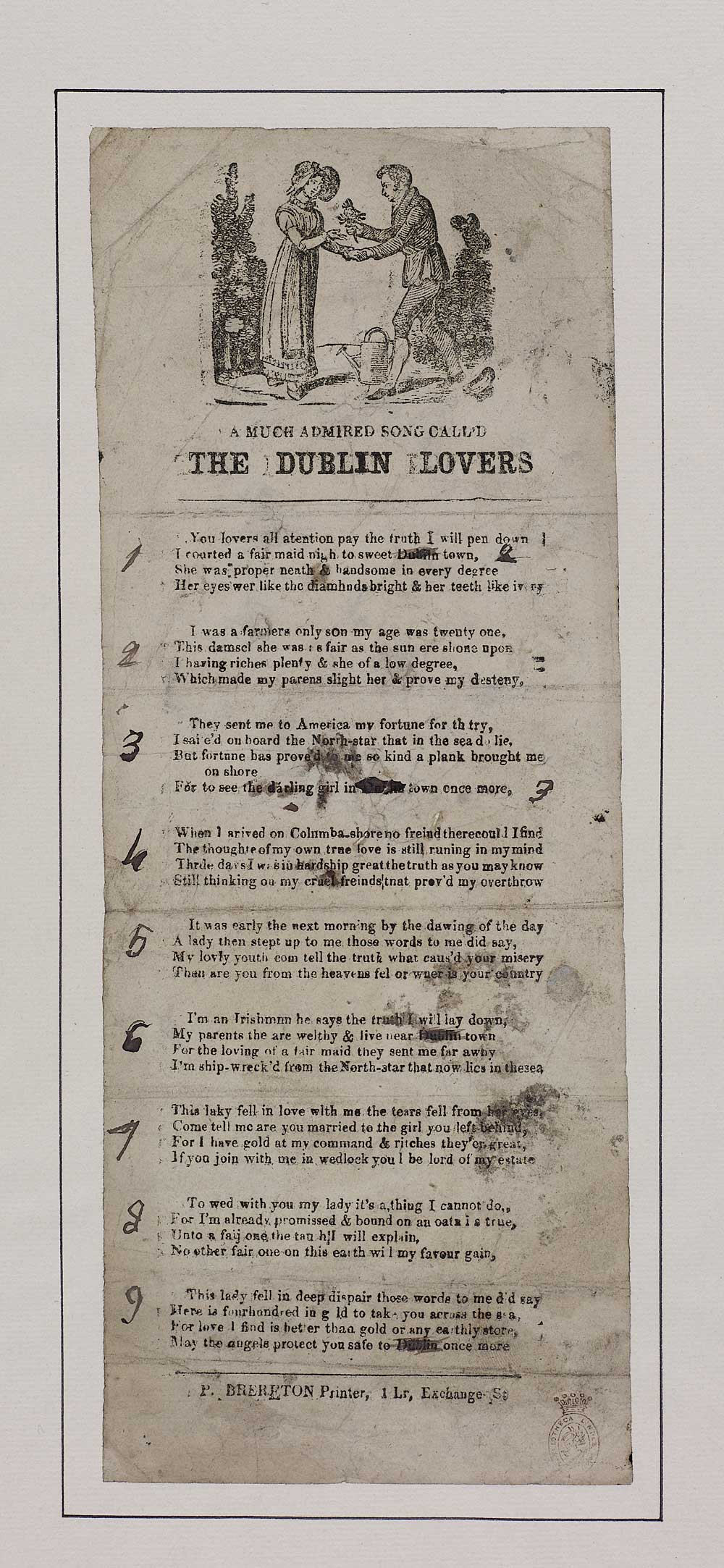 Much admired song call'd The Dublin lovers - Courtship & marriage