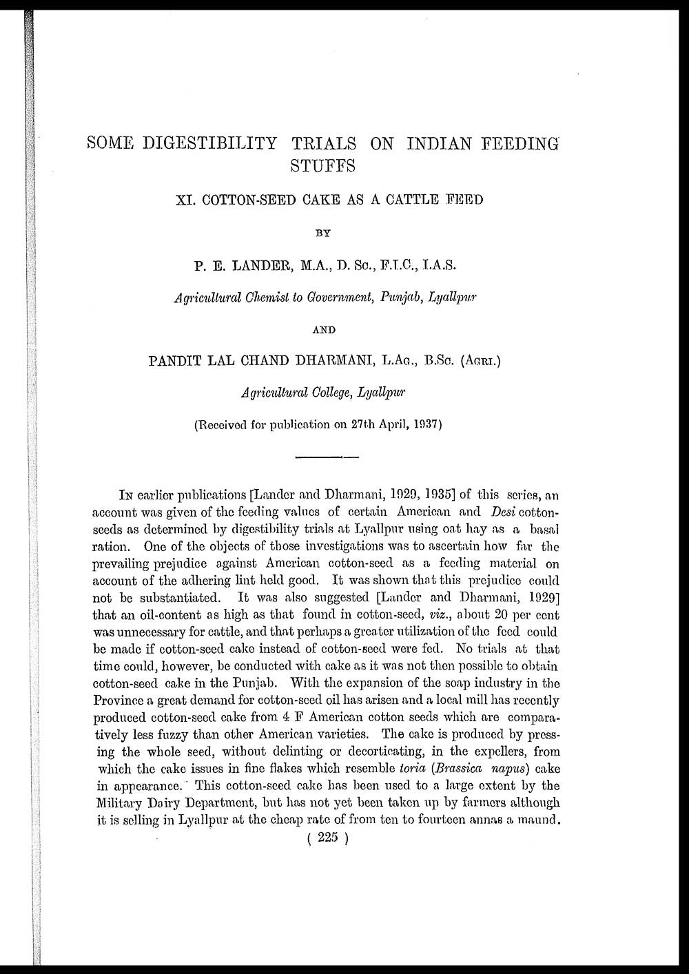 261) Page 225 - Medicine - Veterinary > Veterinary colleges and