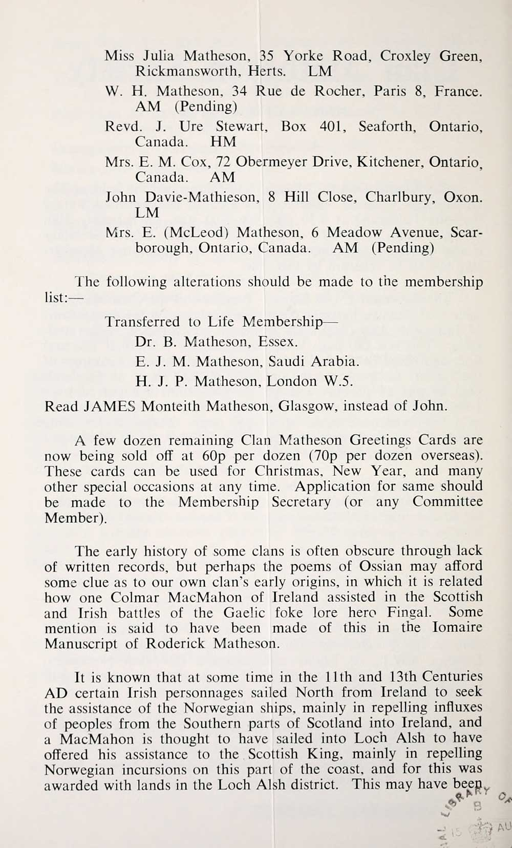 18 Matheson Collection News Letter Early Gaelic Book