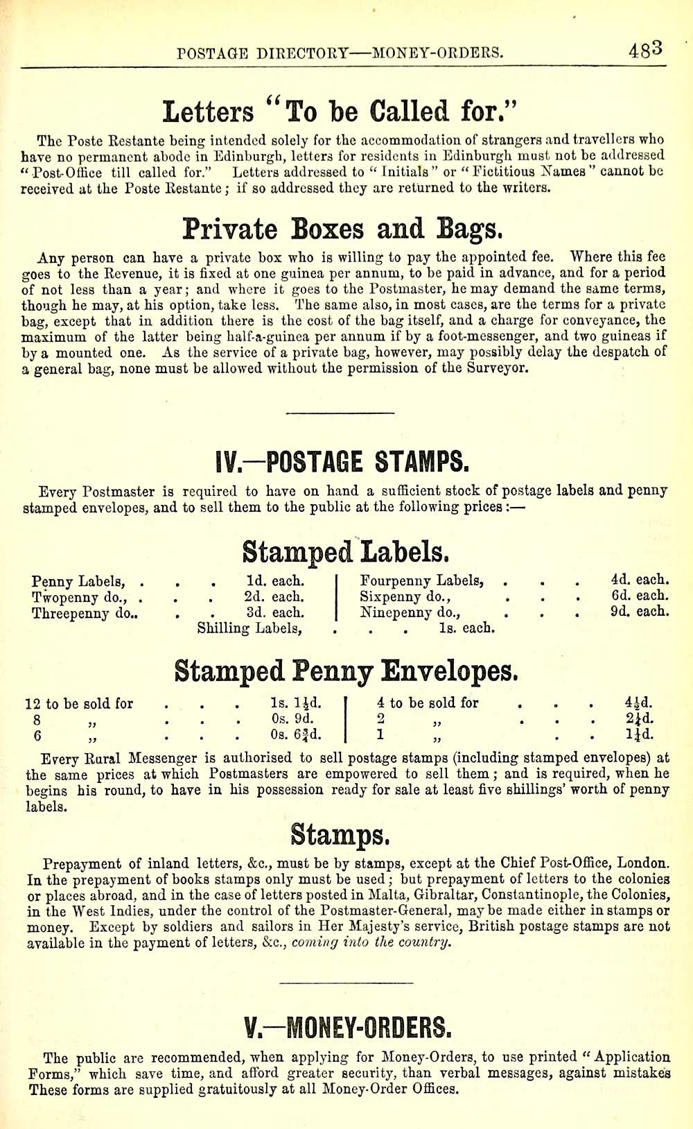 487) - Towns > Edinburgh > 1846-1975 - Post Office Edinburgh