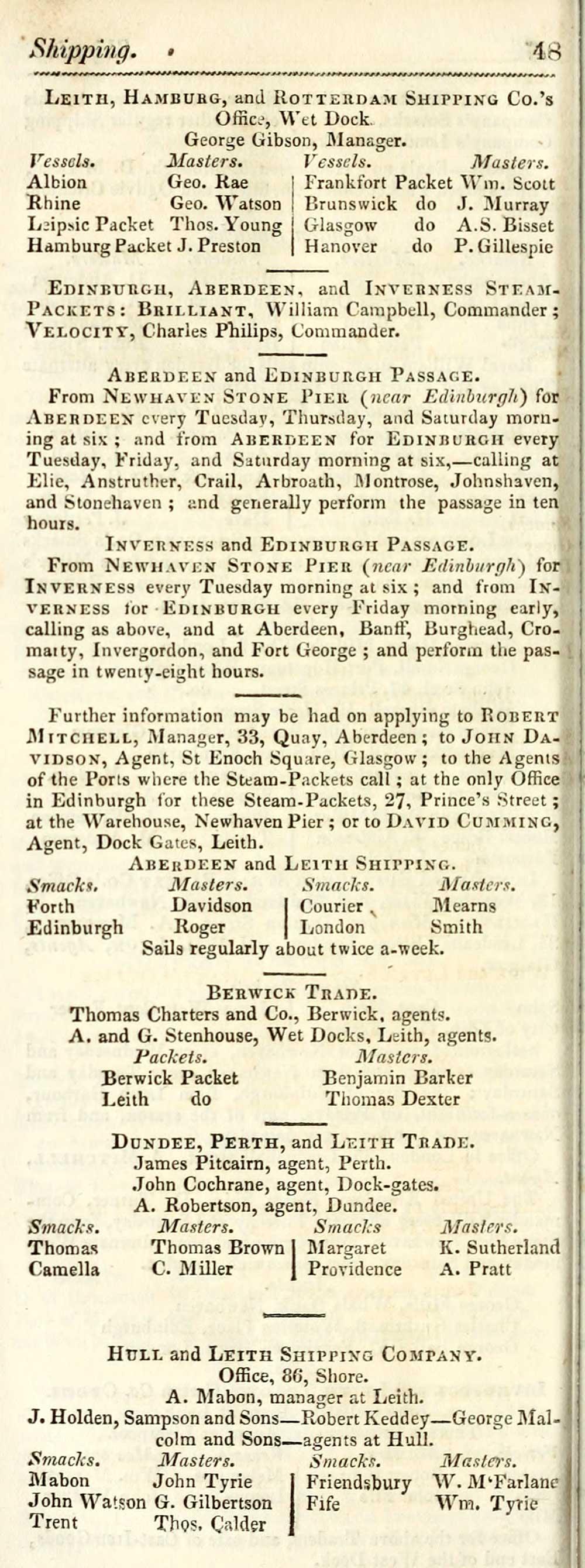 312) - Towns > Edinburgh > 1805-1834 - Post Office annual