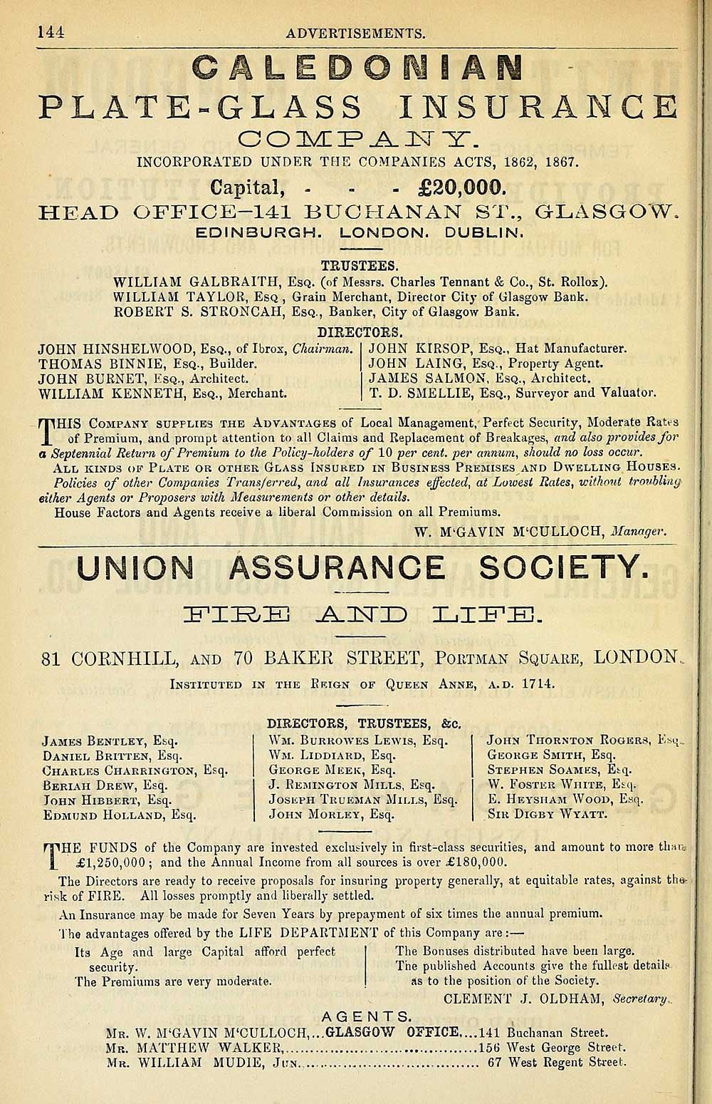 978) - Towns > Glasgow > 1828-1912 - Post-Office annual