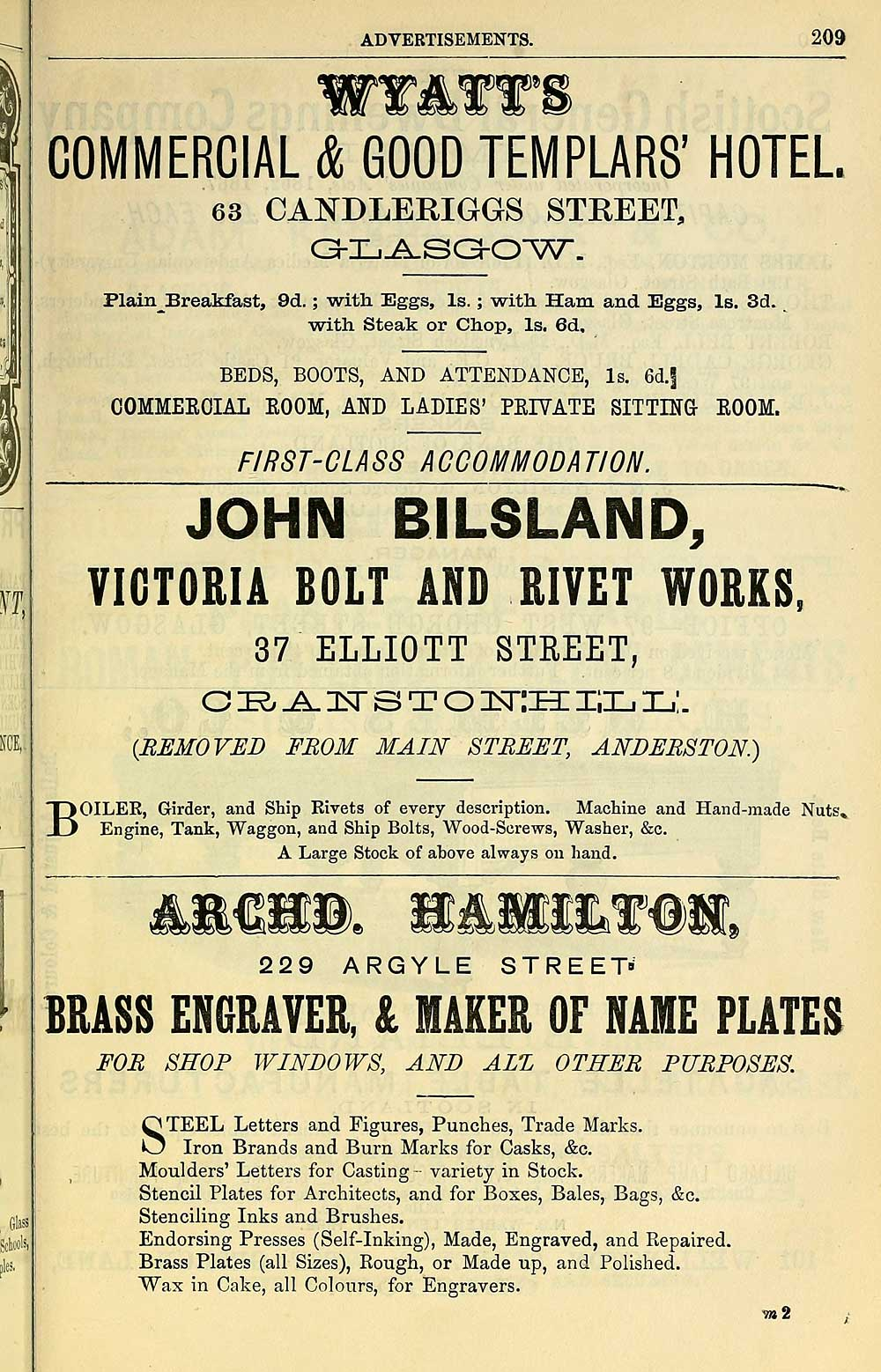 1107) - Towns > Glasgow > 1828-1912 - Post-Office annual