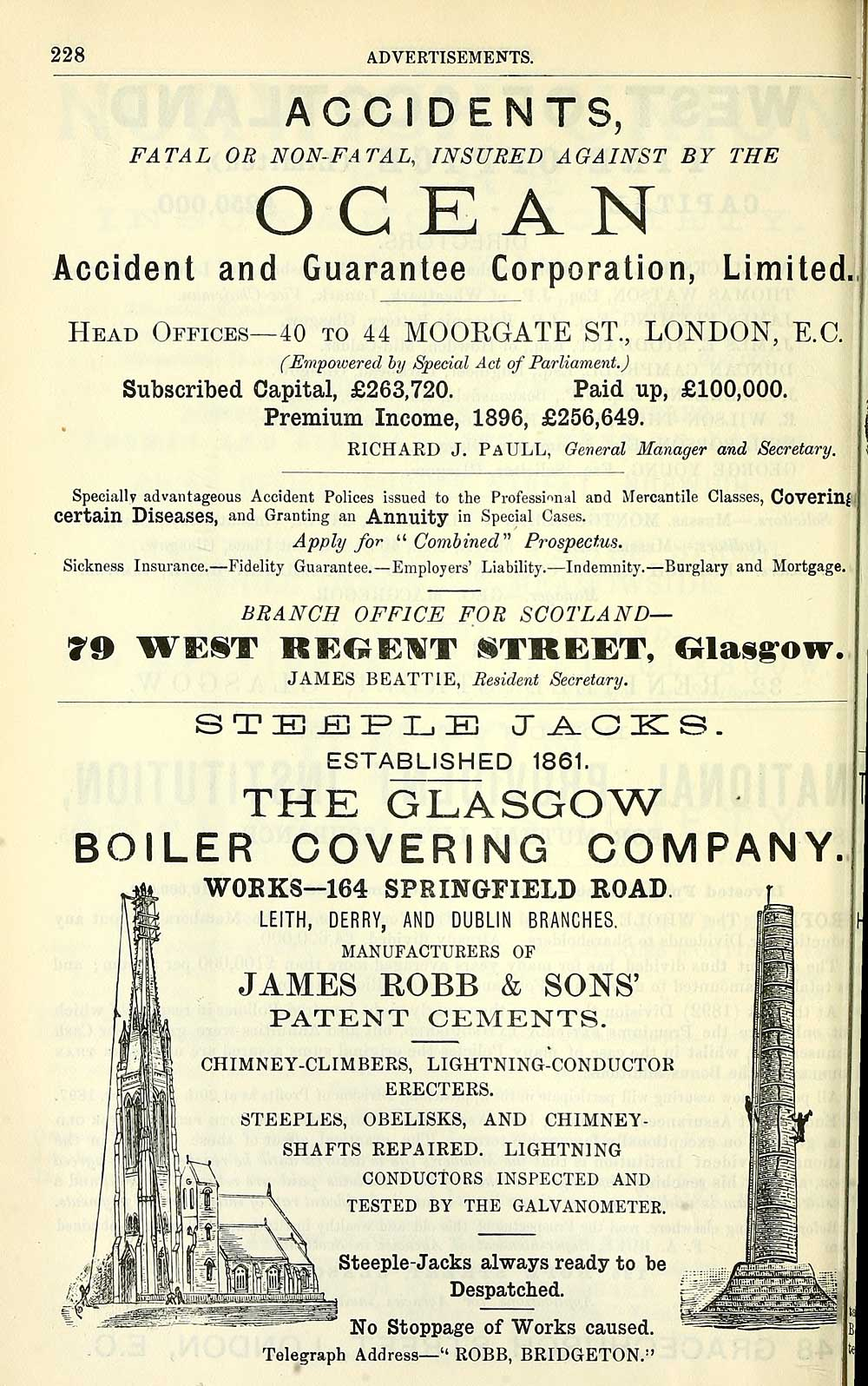 1632) - Towns > Glasgow > 1828-1912 - Post-Office annual