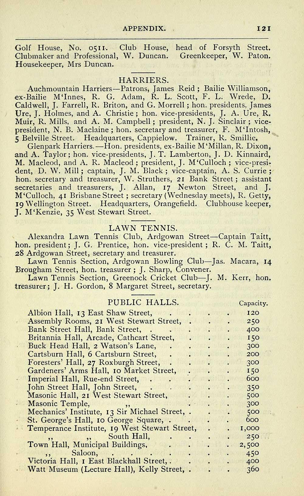 531) - Towns > Greenock > 1847-1912 - Post-office Greenock directory