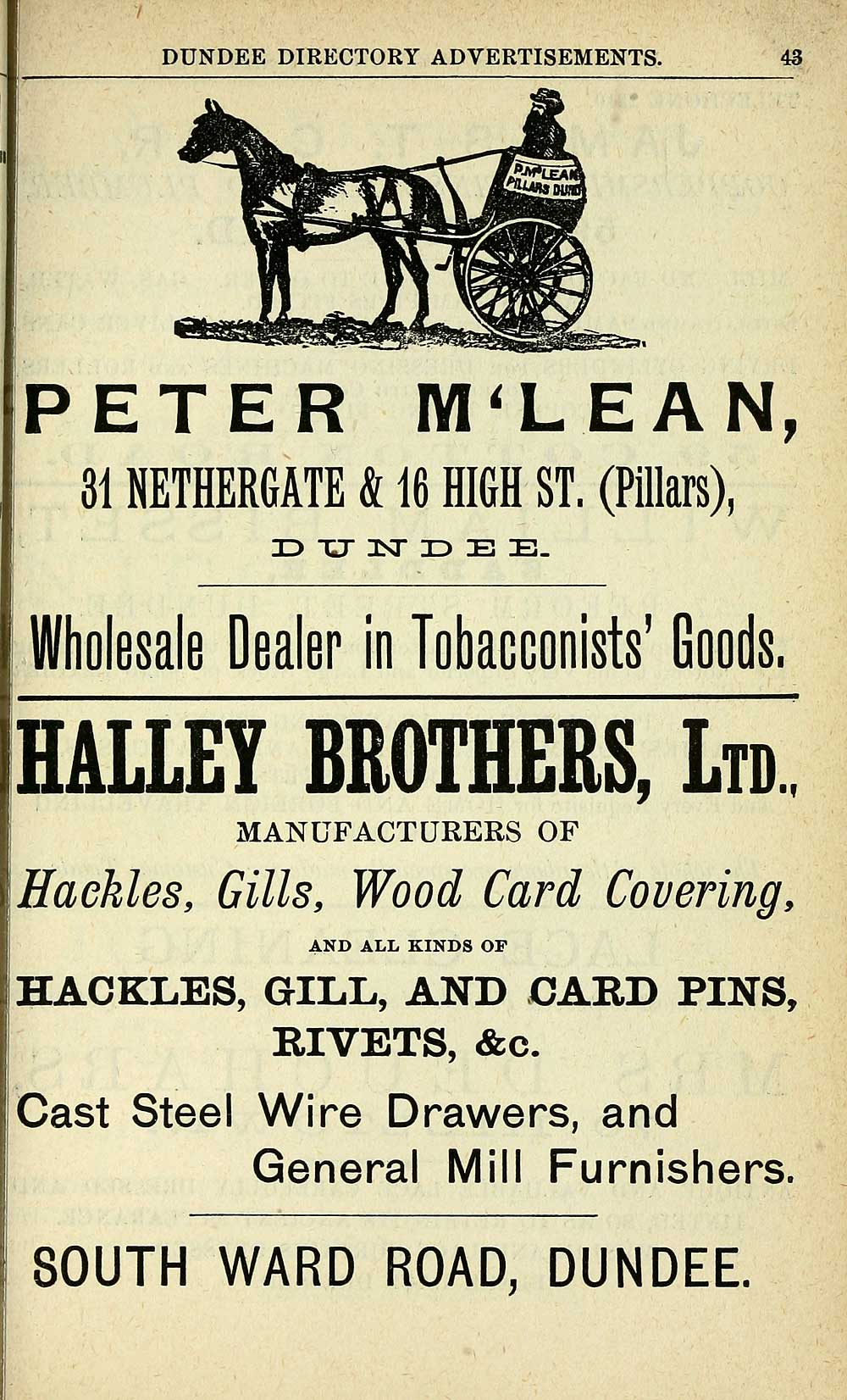 851 Towns Dundee 1809 1912 Directory 1895 1896 Wiring Harness Manufacturers Individual Page