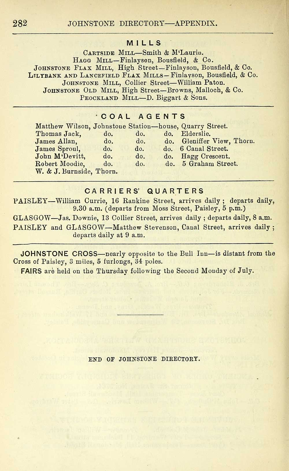 290) - Towns > Paisley > 1884-1912 - Paisley directory and general