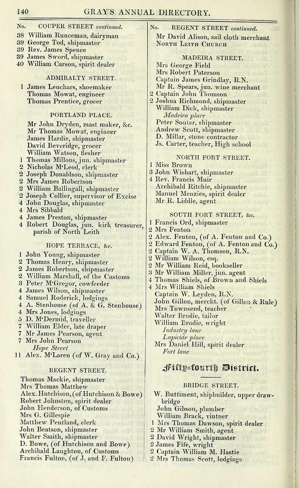 156) - Towns > Edinburgh > 1832-1838 - Gray's annual directory