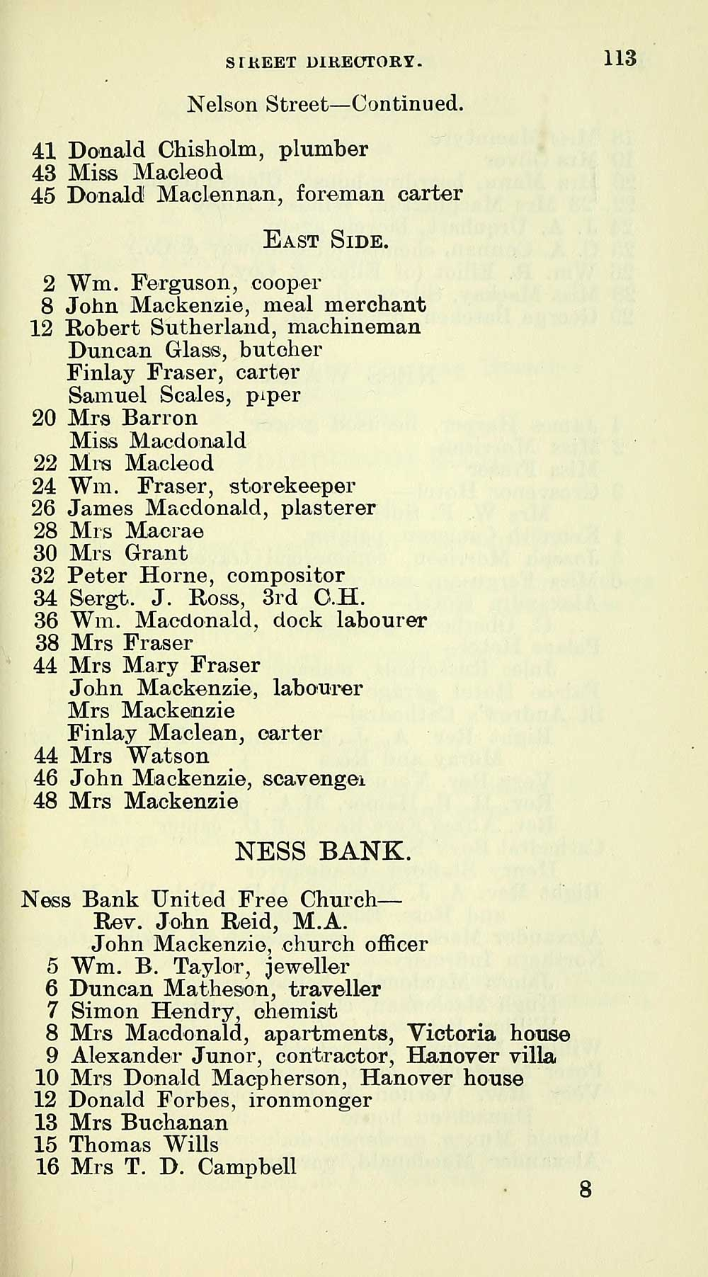 161) - Towns > Inverness > 1899-1912 - Inverness burgh directory