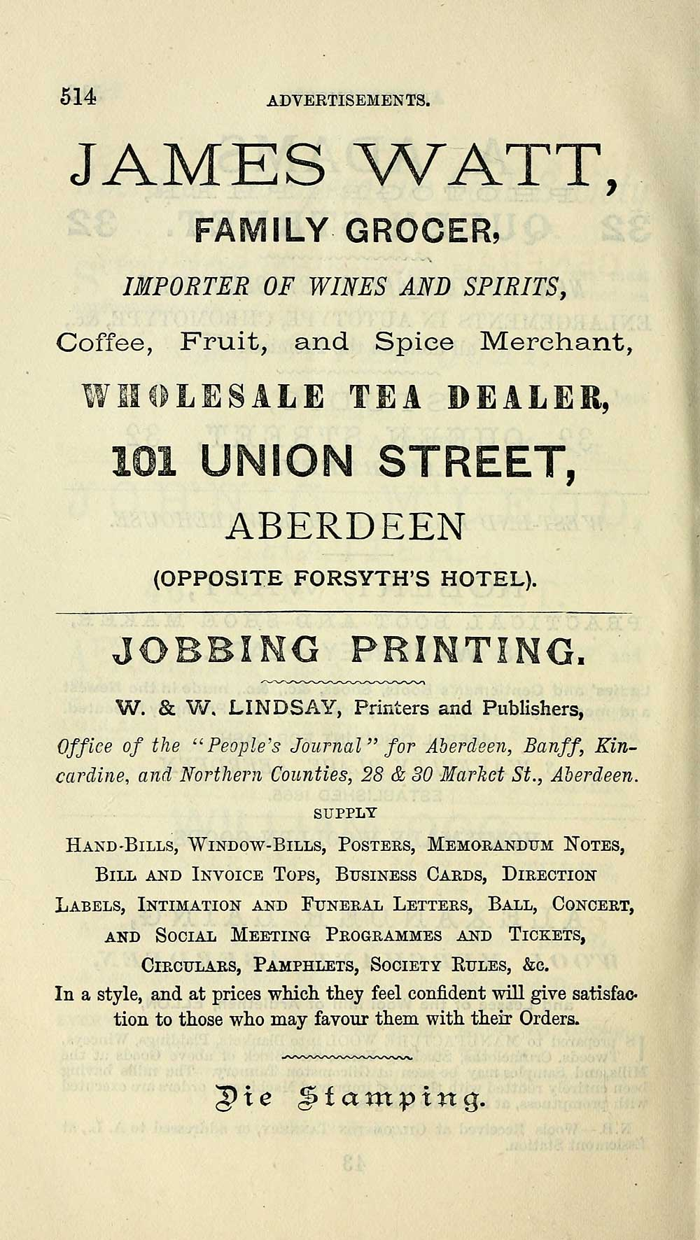 518 towns aberdeen 1858 1912 post office aberdeen directory individual page reheart Choice Image