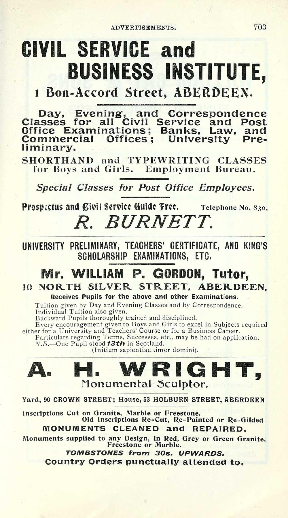 713) - Towns > Aberdeen > 1858-1912 - Post Office Aberdeen
