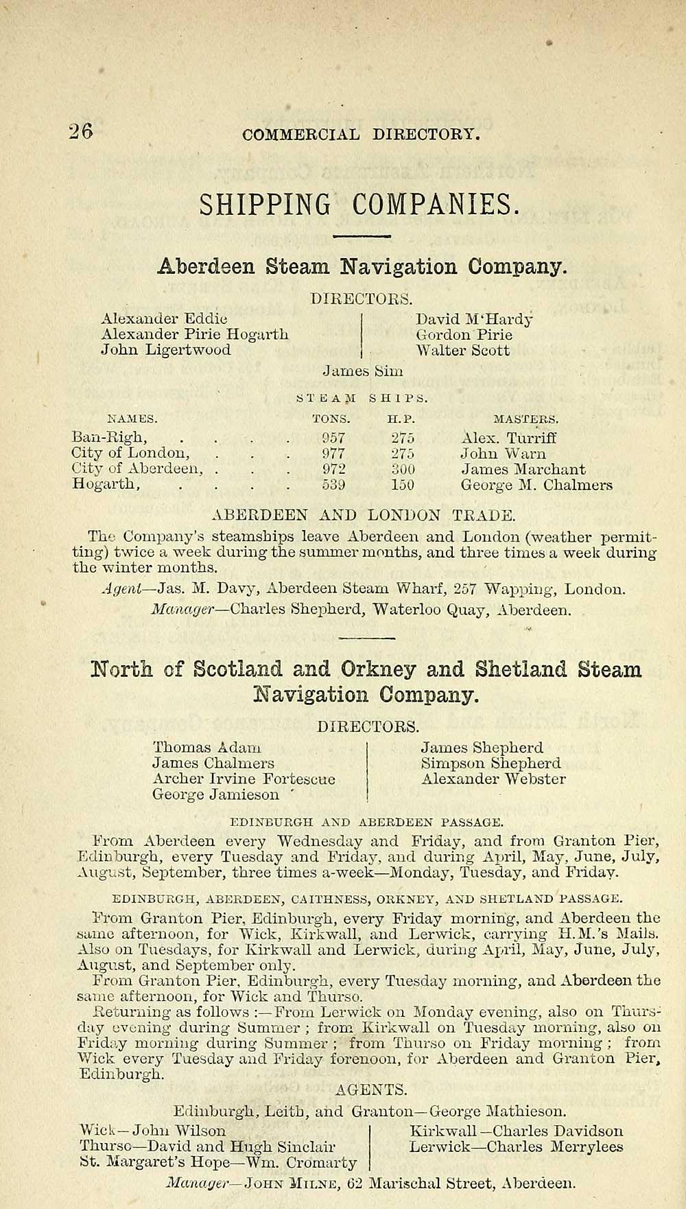 30) - Towns > Aberdeen > 1858-1912 - Post Office Aberdeen