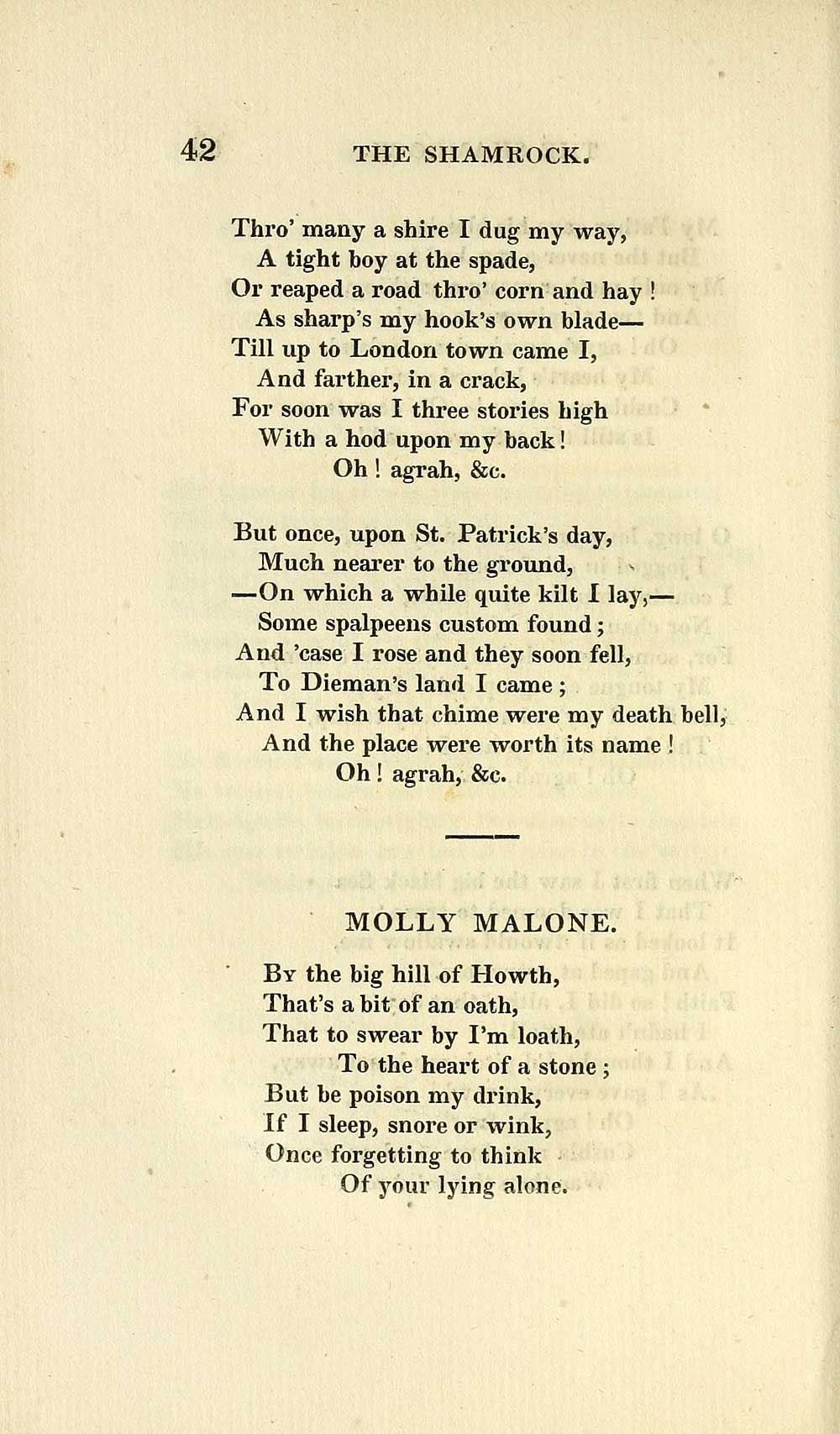 76 Page 42 Molly Malone Glen Collection Of Printed Music