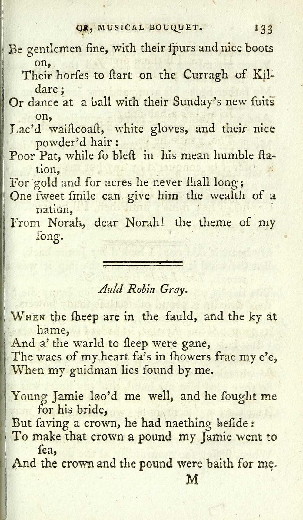 143) Page 133 - Auld Robin Gray - Glen Collection of printed