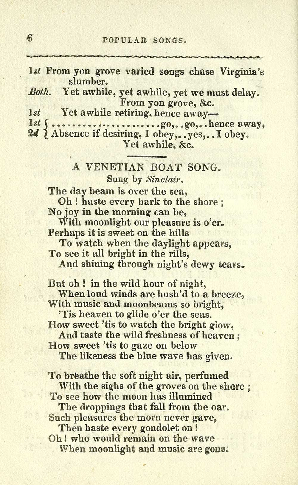 26) Page 6 - Venetian boat song - Glen Collection of printed