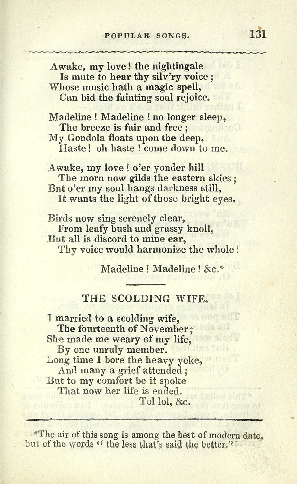 149) Page 129 - Scolding wife - Glen Collection of printed music