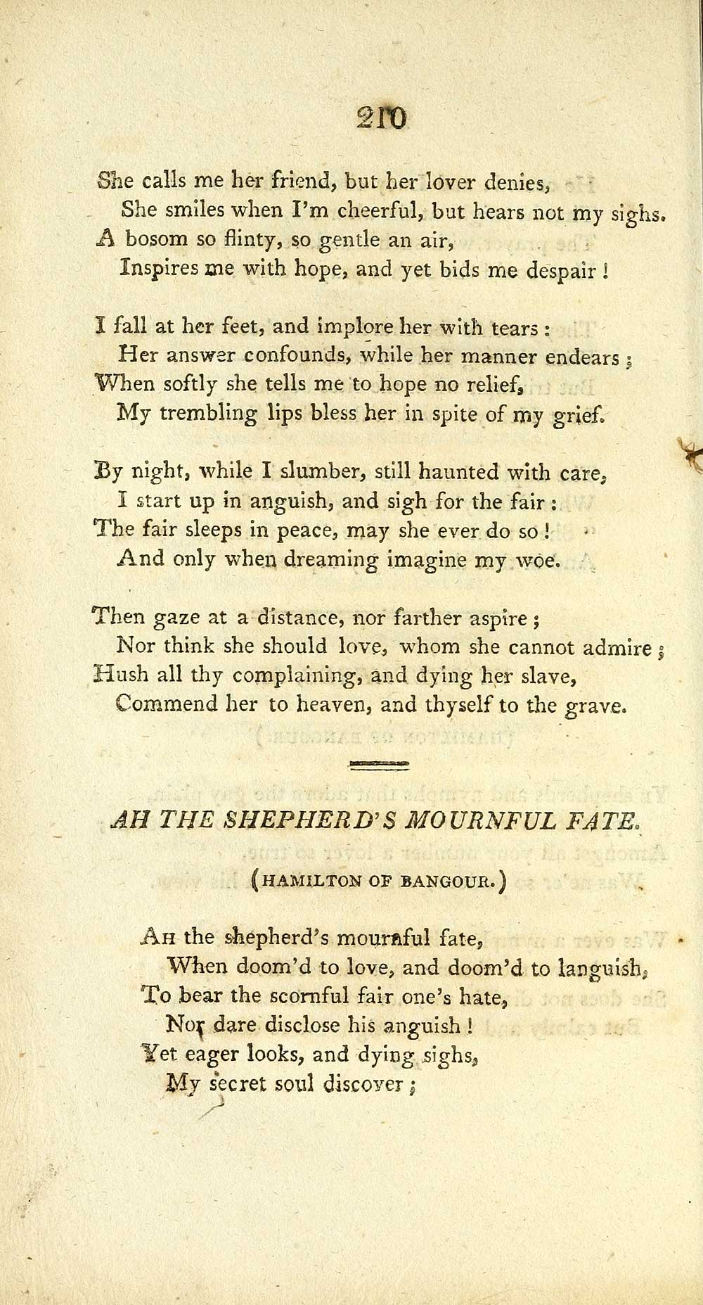 216) Page 210 - Ah the shepherd's mournful fate - Glen Collection of