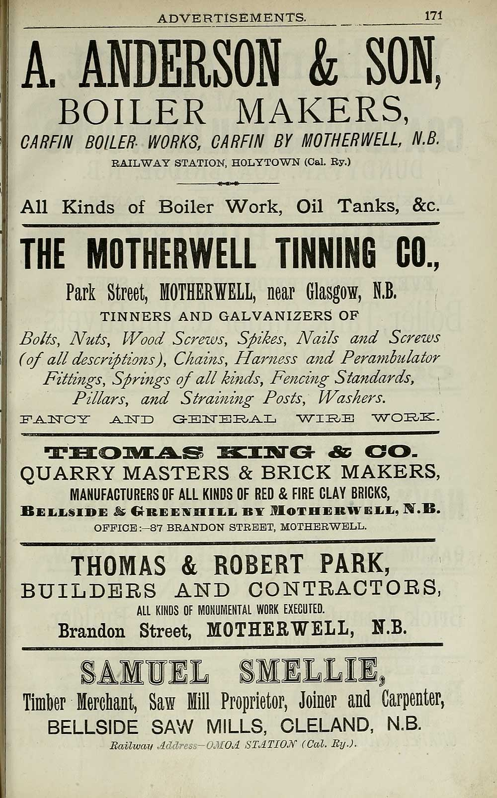 2159 Scotland 1882 1915 Slaters Royal National Commercial Wiring Harness Manufacturers Directory Individual Page
