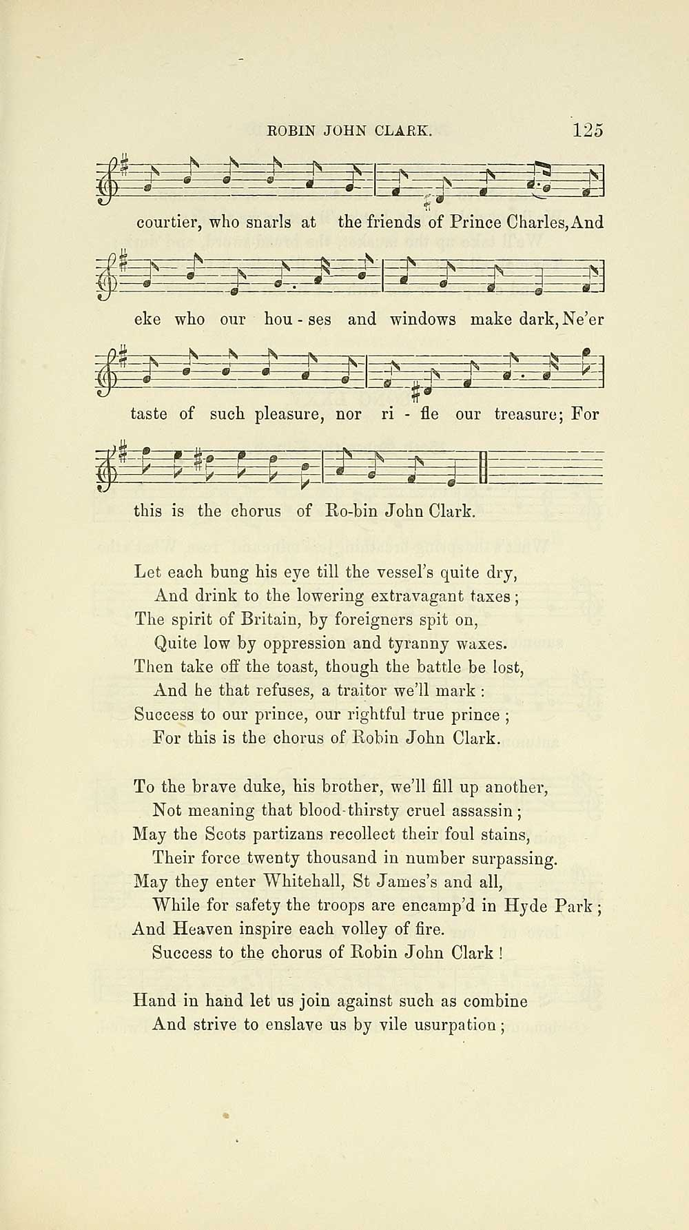 149) Page 125 - Glen Collection of printed music > Printed