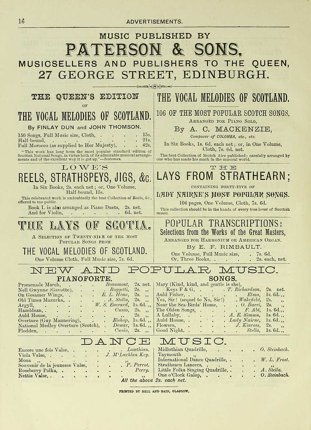 120) Page 16 - Glen Collection of printed music > Printed