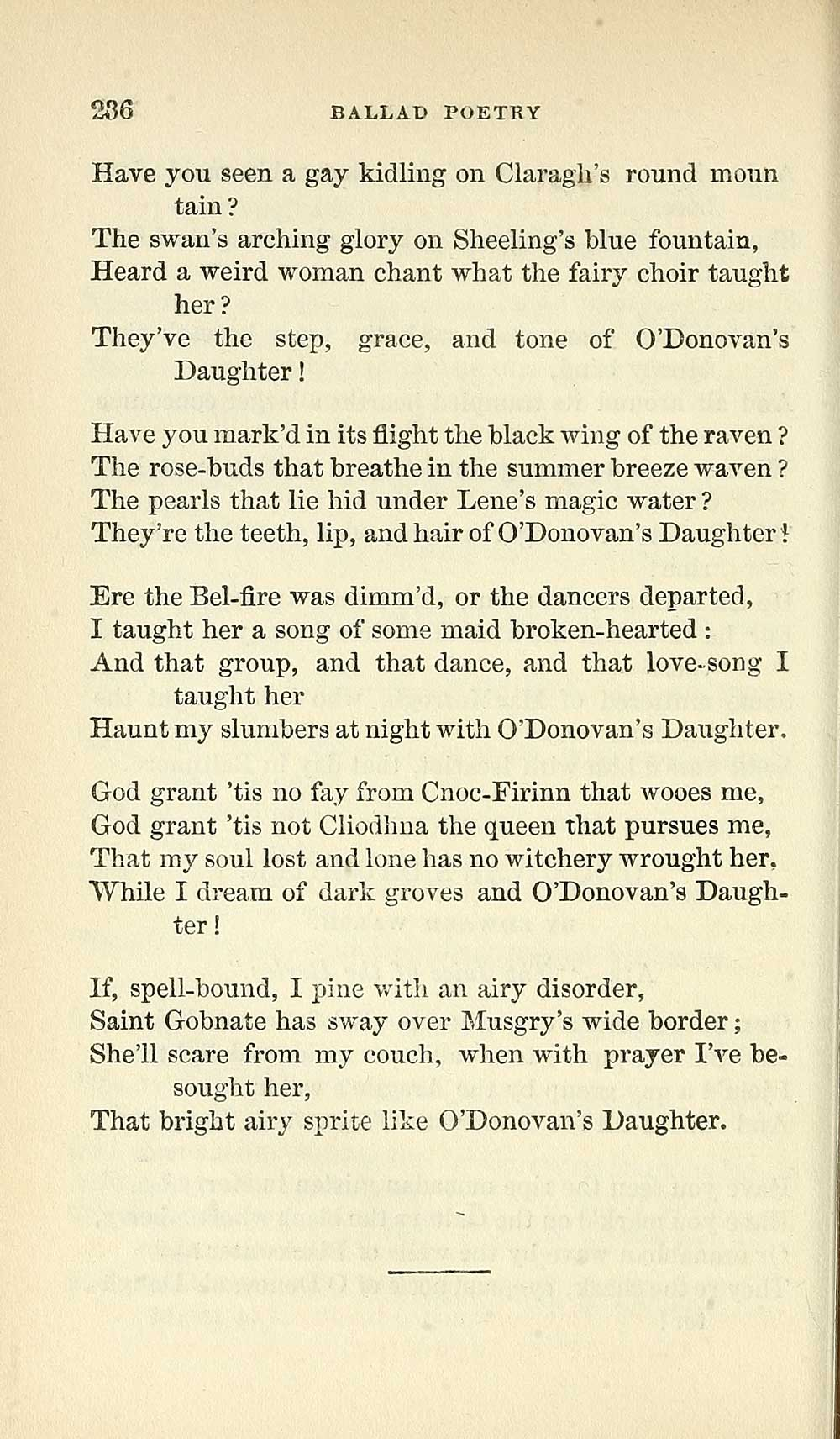 410) Page 236 - Glen Collection of printed music > Printed text
