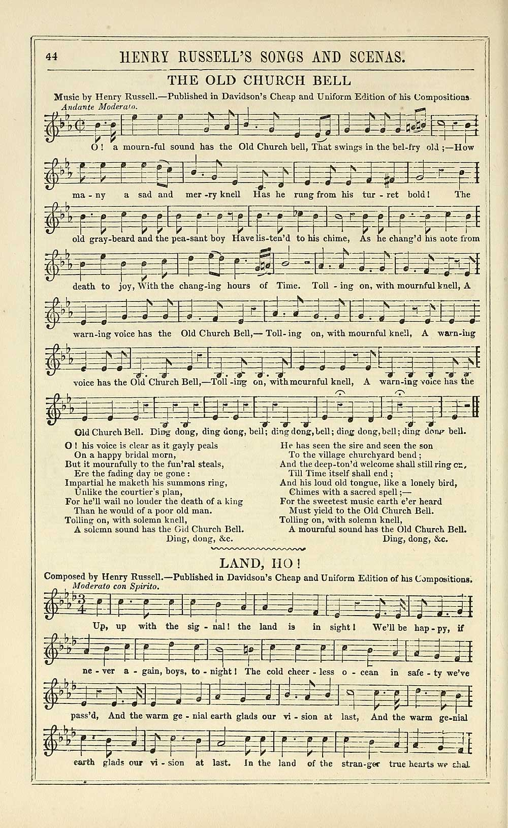50) Page 44 - Old church bell - Glen Collection of printed music