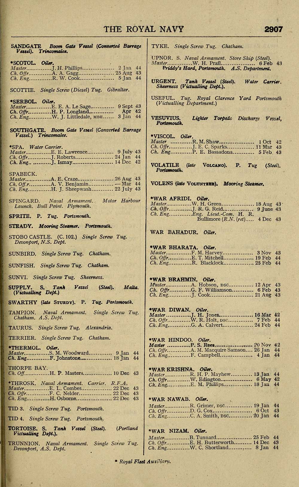 1327) - Navy lists > Bimonthly > 1944 > April > Volume 2