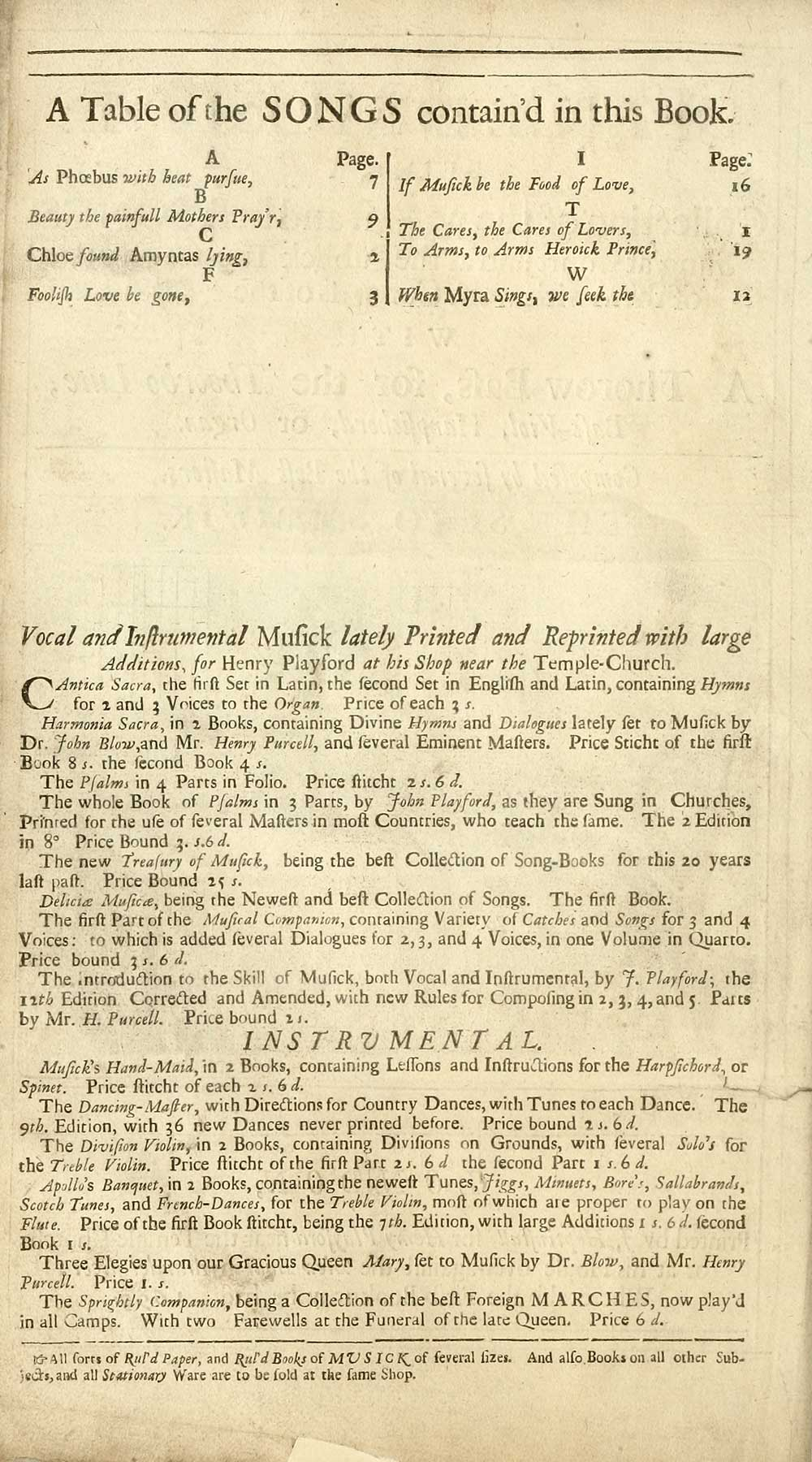 38 page i inglis collection of printed music printed text individual page altavistaventures Choice Image