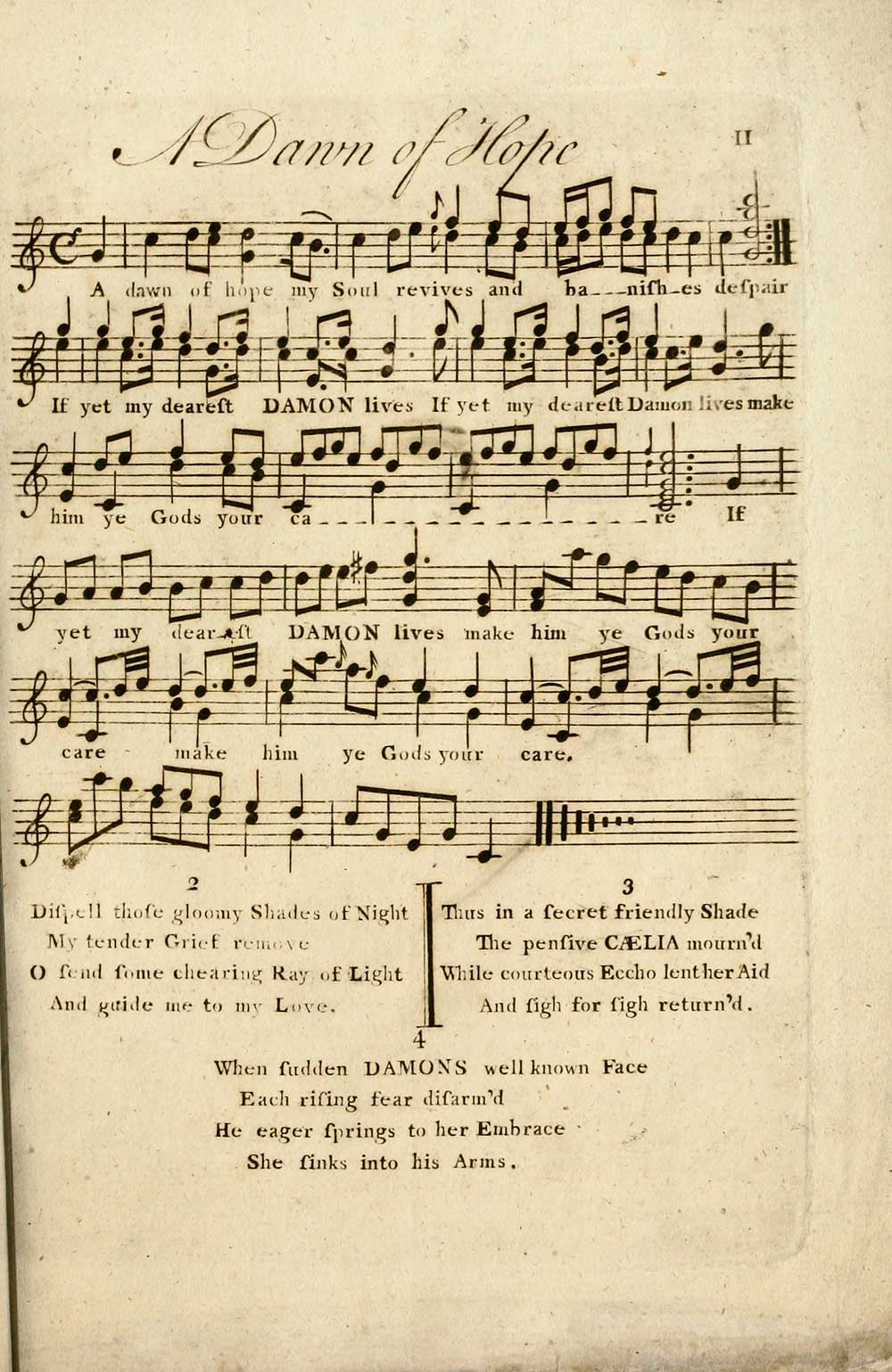 19 Page 11 Dawn Of Hope Inglis Collection Of Printed Music Printed Music Collection Of The Most Celebrated Songs Set To Music By Several Eminent Authors Adapted For