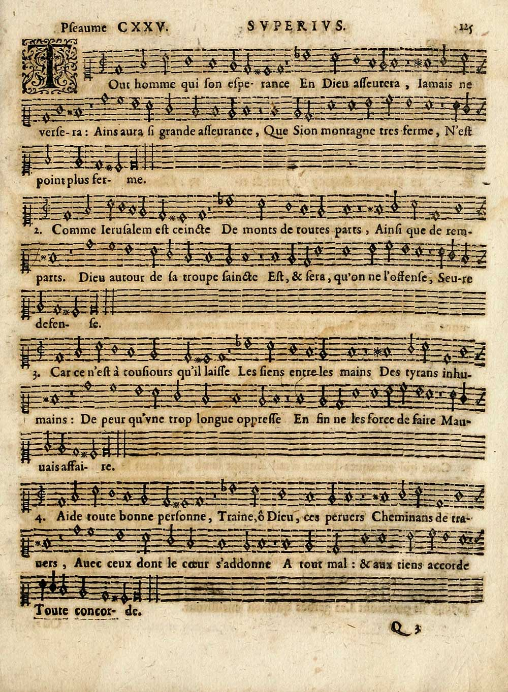 137 Page 125 Tout Homme Qui Son Esperance Inglis Collection Of Printed Music Printed Music Pseaumes De David Special Collections Of Printed Music National Library Of Scotland