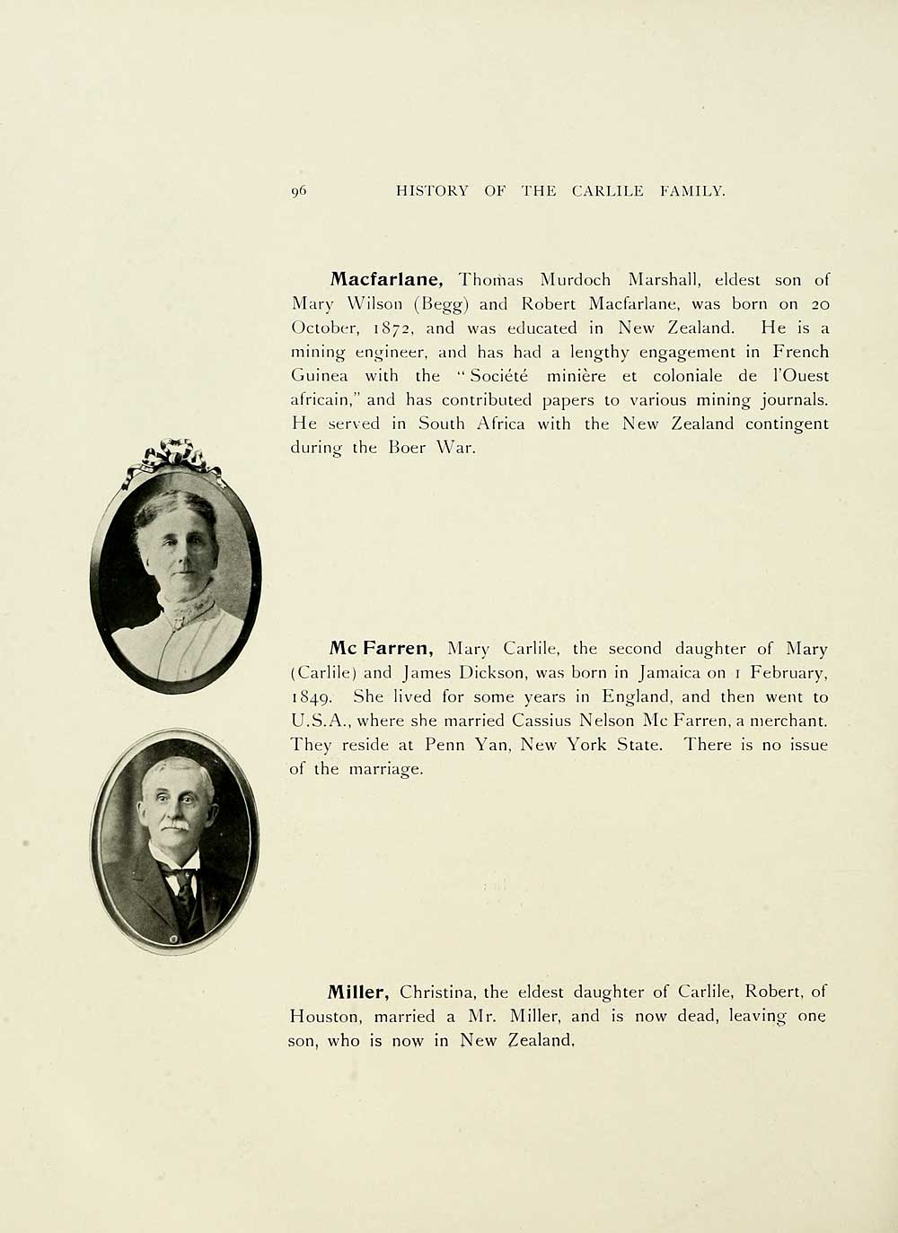 150) Page 96 - History of the Carlile family - Histories of