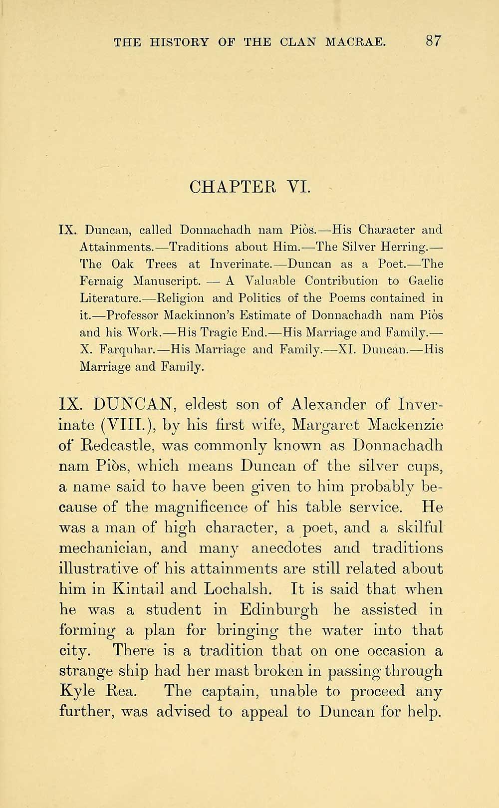 123) Page 87 - Duncan, called Donnachadh nam Piòs s