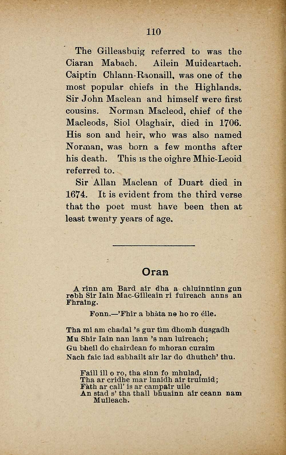 114) Page 110 - Books and other items printed in Gaelic from 1871 to