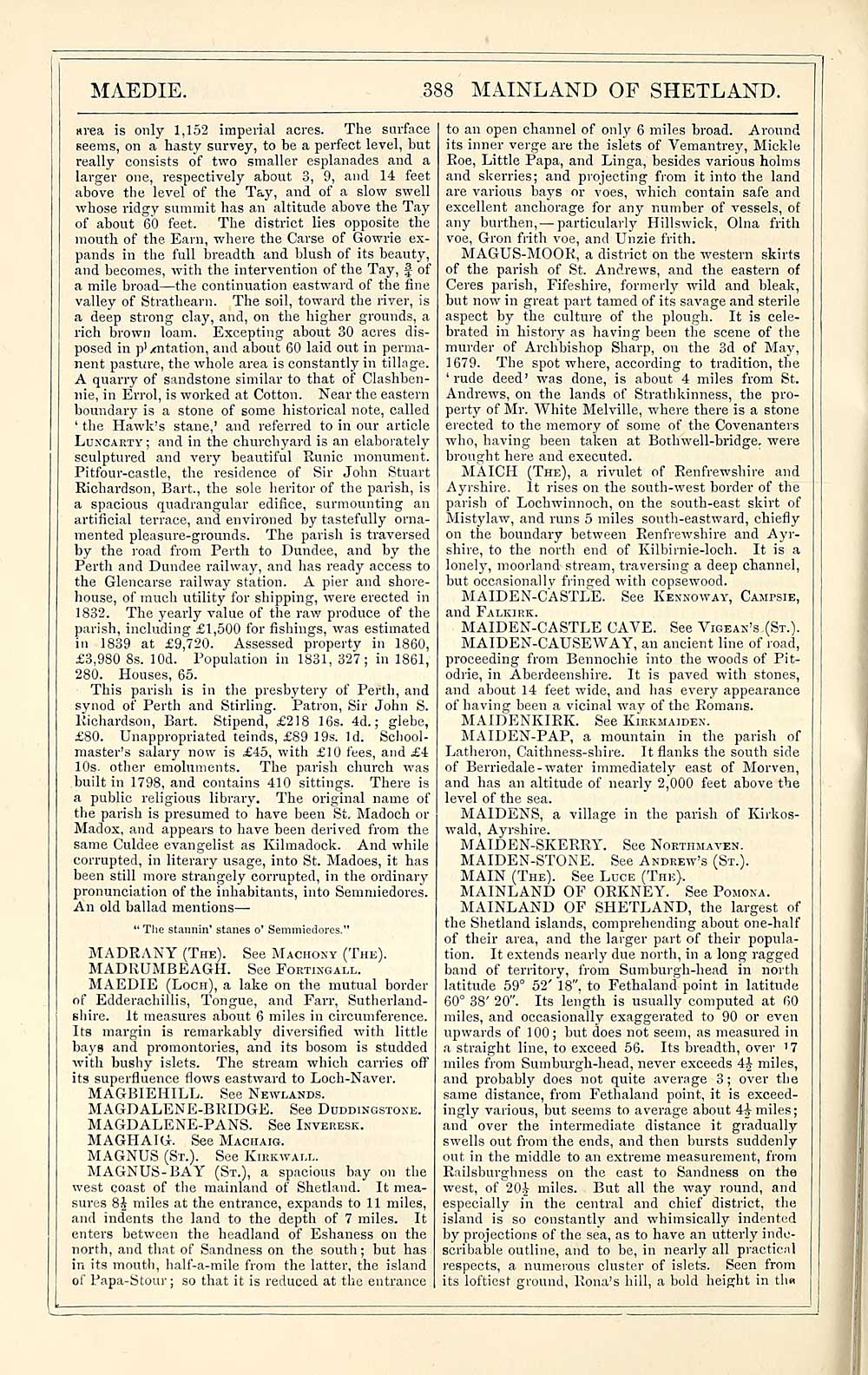 424) Page 388 - Imperial gazeteer of Scotland, or, Dictionary of